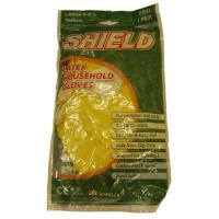 Yellow latex household gloves small