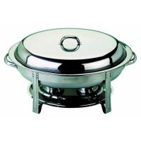 Genware oval chafing dish 32x54x30cm