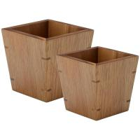 Set of 2 bamboo riser display bowl