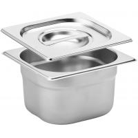 Stainless steel gastronorm 1 6 100mm deep