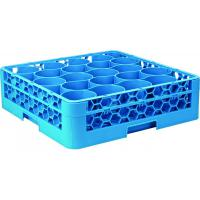 Newwave polypropylene 20 compartment rack 2 blue extenders 50x50x20 5cm
