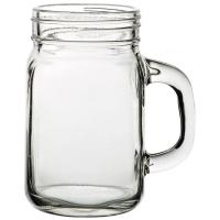 Tennessee handled jam jar glass 43cl 15oz jeremiah weed style