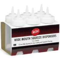 Wholesale pack widemouth squeeze dispenser clear 355ml 12oz