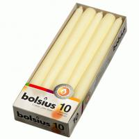 Bolsius tapered candle ivory 25cm 10 tall