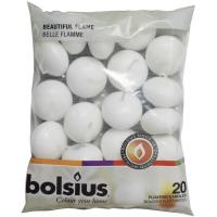Bolsius white floating candles