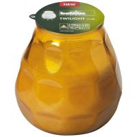 Bolsius twilight glass candle amber