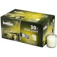Bolsius starlight candle in glass holder clear