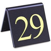 Perspex table numbers gold on black 2x2 21 30 set
