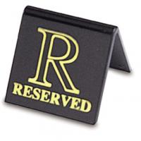 Tent reserved symbol gold on black