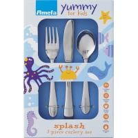 Amefa splash children s 3 piece cutlery set