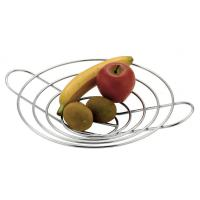 12 round chrome wire fruit basket