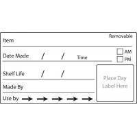 Use by labels freezer label