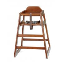 Walnut high chair unassembled
