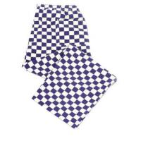 Blue checkerboard chef s trousers small