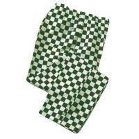 Green checkerboard chef s trousers large