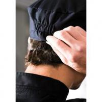 Black elasticated chefs skull cap small