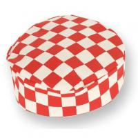Red checkerboard chefs skull cap medium