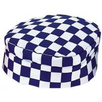 Blue checkerboard skull cap extra large