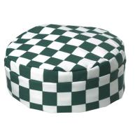 Green checkerboard skullcap large