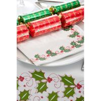 Paper holly christmas table mat 36 5x25cm 14 25x9 8