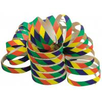 Multi coloured party streamers